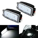 iJDMTOY White LED Under Side Mirror Puddle Lights Compatible With Land Rover Range Rover, Range Rover Sport, LR2 LR3 LR4, (Powered by 18 pcs White SMD LED Lights)