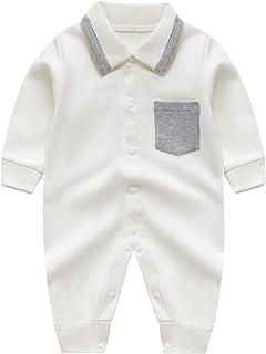 طفل انسان محترم أولاد رومبير مع جيب مولود جديد كم طويل لعبة البولو الرقبة حللا (Color : White, Size : 66CM)