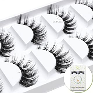 ICYCHEER 3D Mink luxurious False Eyelashes Hand-made Natural Long Cross False Lashes Hanmade Eye Lashes Set Extension