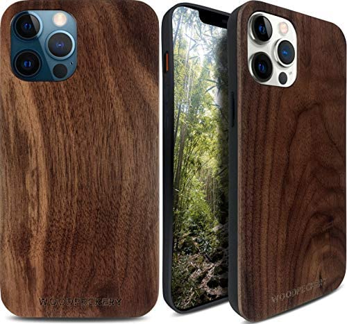WOODPECKERY Real Walnut Wood Case Compatible with iPhone 12 12 Pro 6 1 Premium Slim and Flexible product image