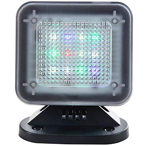 WALI Dummy Fake Security TV Light LED Simulator with Power Adapter Timer Sensor Crime Prevention (FTVP001), Black