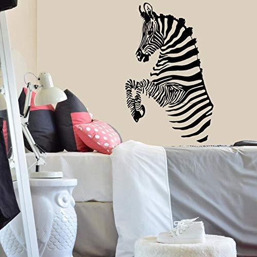 hetingyue Zebrastrepen Afrikaanse wilde dieren safari muursticker vinyl sticker familiedecoratie kunst kinderkamer woonkamer muurschildering