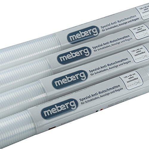 meberg Antirutsch-Matten Schubladen-Einlagen, Schränke, Regale Transparent 120 x 60 cm Küchen-Matte zuschneidbar Schubladenmatte (4er Set)