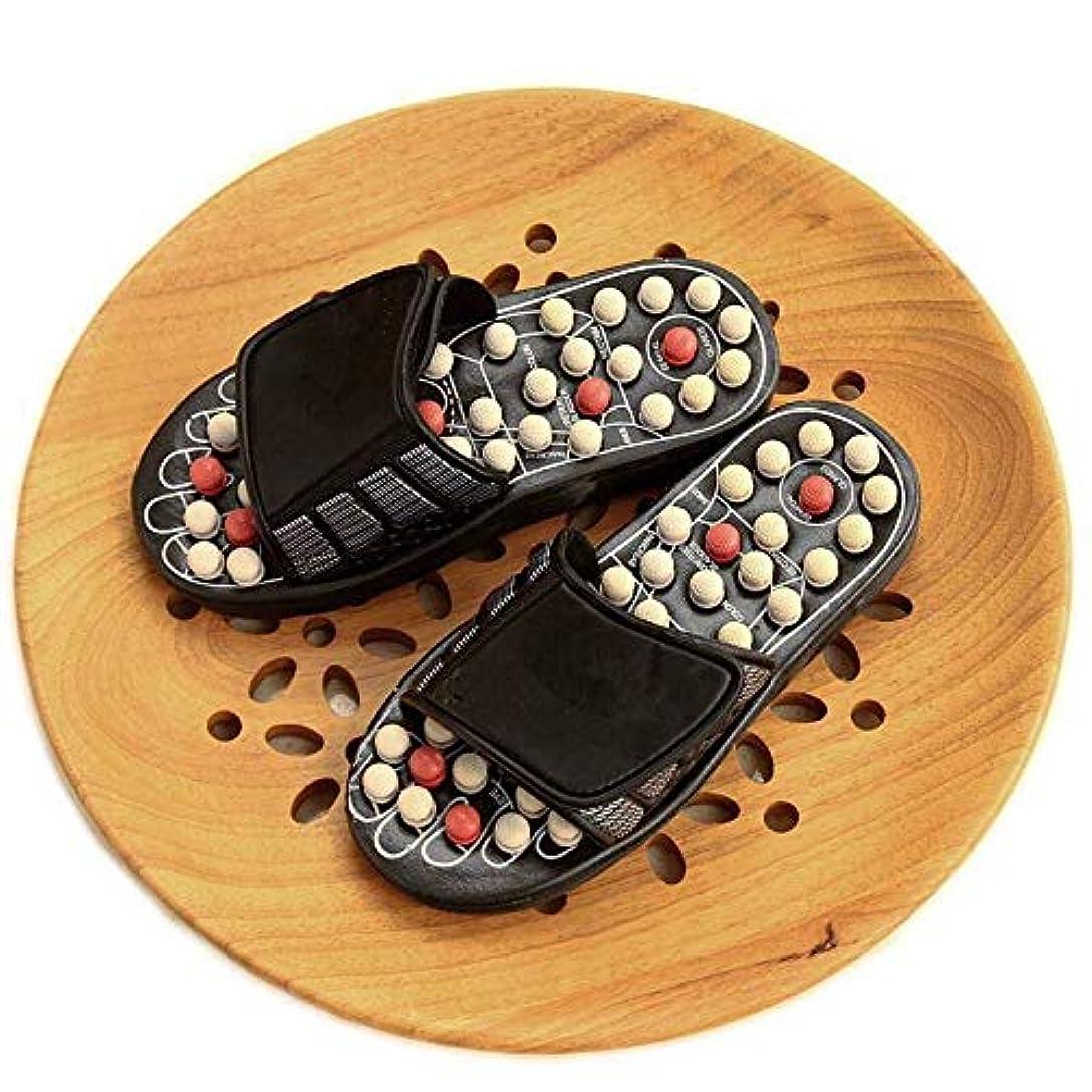 知り合いになる疑問に思う転用MASSAGE SLIPPER LUOSAI 指圧フットマッサージャージェイドストーンアキュポイントマッサージスリッパ靴リフレクソロジーサンダル男性用女性 (Size : 40-41)