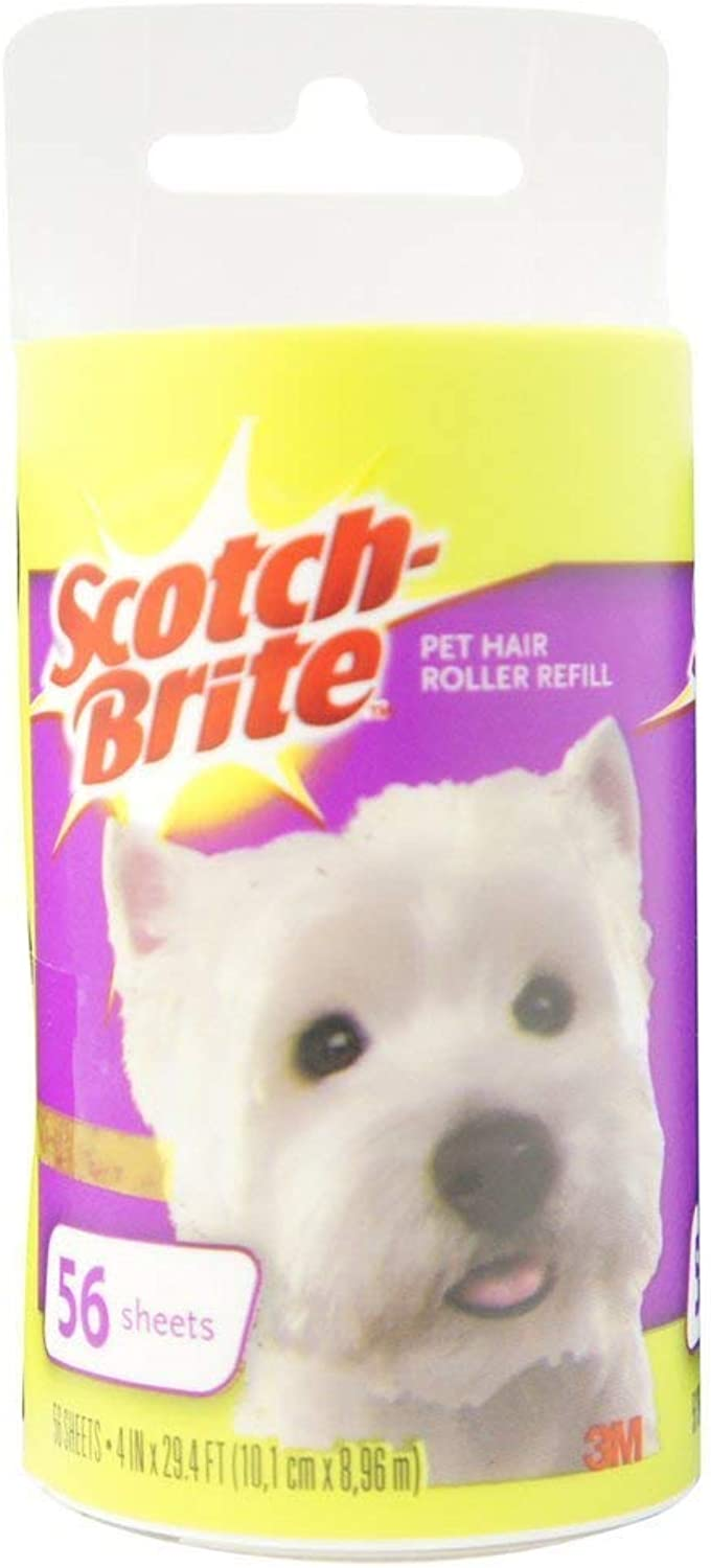 3M ScotchBrite Pet Hair Roller Refill  56 Layers ( Pack of 12 )