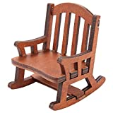 Chaise Miniature, Chaise berçante Miniature, Chaise de Maison de poupée, pour Les Cadeaux de Salon de Chambre à Coucher à la Maison