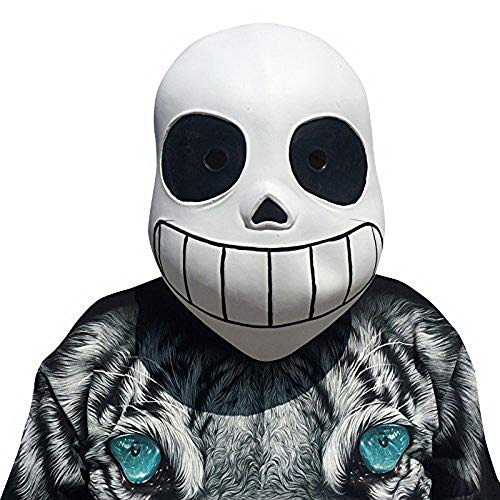 thematys Undertale Sans Maske - perfekt für Fasching, Karneval & Halloween - Kostüm für Erwachsene - Latex, Unisex Einheitsgröße