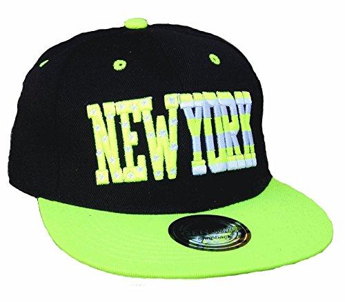 Casquette NEW YORK NY fittet Base Snap Back Casquette Starter A Hip Hop Chapeau de Parapluie - Noir - Taille unique