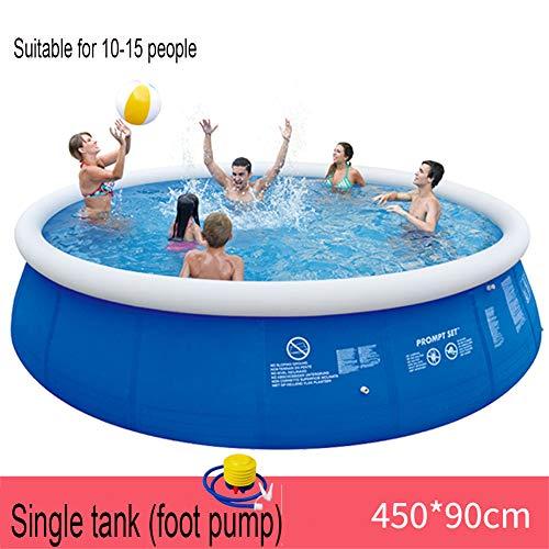 Sehr Großer Pool Aufblasbarer Klapppool Erwachsene Und Kinder, Garten, Familie, Garten, Runder Innen- Und Außenpool,4.5m