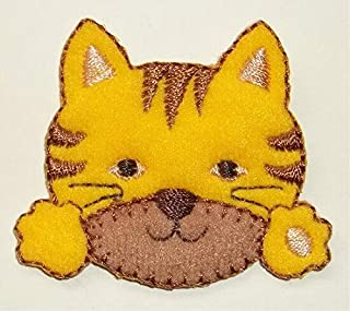 Tiger CAT CUB FACE and Paws Iron ON Applique