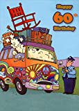 Designer Greetings Peace and Love Hippy Van Funny/Humorous 60th : Sixtieth Birthday Card