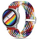 Vodtian 20mm Armband Nylon Solo Loop Kompatibel mit Samsung Galaxy Watch 3 41mm/Galaxy Watch 42mm/Active2 44mm 40mm/Gear Sport, Schnellwechsel Sport Uhrenarmband Elastisch Geflochtenes Ersatzarmbänder