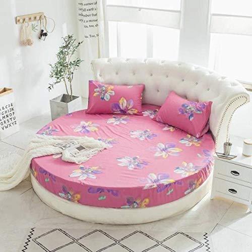 HPPSLT Protector de colchón, con Aloe Vera, (Todas Las Medidas) Faldón de Cama Redondo de algodón Redondo -24_2.2m