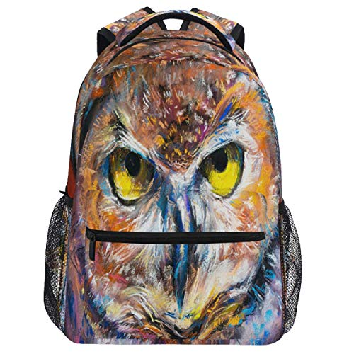 Mouthdodo Aniaml Owl Painting Modern Art Backpack Bookbag Daypack Travel Hiking Camping School Laptop Bag