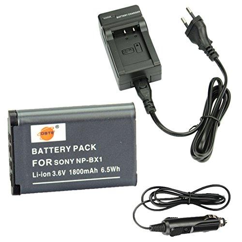 DSTE Repuesto Batería y DC134E Viaje Cargador kit para Sony NP-BX1Cyber-shot CX240HDR-PJ10E CX240E DSC RX10II RX1B DSC-RX1R DSC-RX1DSC-RX1R/B DSC-RX100DSC-RX100II DSC-RX100III