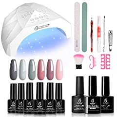 As Nude Grays Gel Nail Polish satrter Kit with uv light led nail dryer with beetles gel nail polish set, you can enjoy doing your nails at home with this gel nail polish set to complete ALL-IN-ONE Kit! Everything you need to start doing your nails yo...