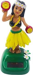 FENICAL Solar Dancing Dancing Girl Dashboard Hula Girls Swing Figure Hawaiian Leis Summer Party Decor