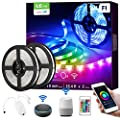 LE Smart LED Strip Lights Works with Alexa Google Home, 32.8ft Music Sync RGB Color Changing, SMD 5050 LED Tape Light, 16 Million Colors LED Lights for Bedroom, Home, Kitchen, TV, Party and Festival