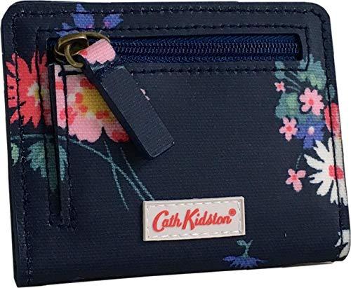 Cath Kidston Busby Bunch - Monedero de Tela de Hule Mate, Color Azul Marino