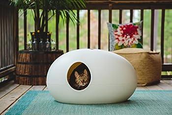 Maison de toilette design / Niche design pour chat - BLANC