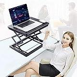 EPHEX Sitz-Steh-Schreibtisch Mechanismus Laptop Monitor Standtisch, Ergonomischer Höhenverstellbarer Aufsatz für den Schreibtisch, zum Arbeiten im Sitzen oder Stehen