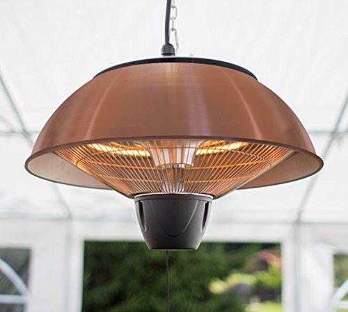 Firefly 1.500 Watt Infrarot-Heizstrahler (Halogen) Terrassenheizung, Deckenmontage, kupferfarben - 3