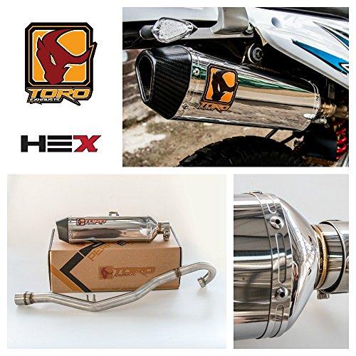 Toro T2 HEX Edelstahl/Carbon voll Auspuff System - Kreidler Supermoto 125 DD