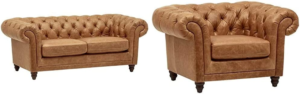 Amazon Brand – Limited price Max 43% OFF sale Stone Beam Bradbury Tufted Modern Chesterfield