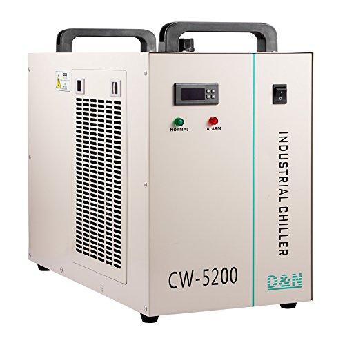 BuoQua Wasser Kühler 6L Industrieller Wasserkühler CW-5200DG Thermolyse Typ 1400W Wasserkühlung Water Chiller CO2 Laser Rohrkühler für CNC Gravieren