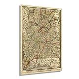 Historix Vintage 1888 Map of Alabama - 16x24 Inch Vintage Map of Alabama Wall Art - Railroad Map of Alabama Poster - State of Alabama Decor - Alabama Old Maps - Alabama Wall Decor (2 Sizes)