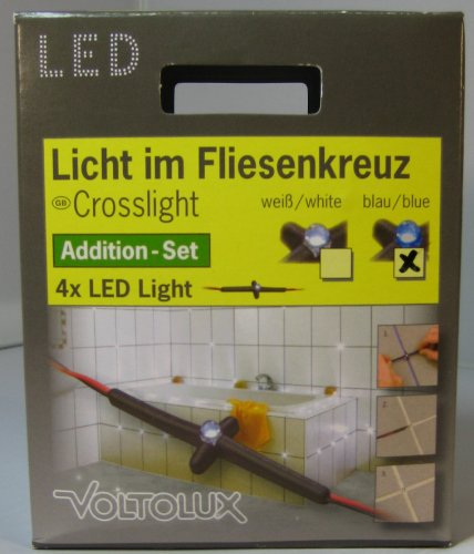 Luz LED Voltolux efko Set de extensión de cruz azul 4 x...