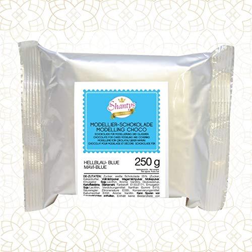 Premium Modellierschokolade - BLAU 250 g - Schokolade, Modelliermasse - Shantys