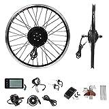 YOSE POWER Juego de conversión de bicicleta eléctrica de 20 pulgadas, 36 V, 250 W, con pantalla LCD, color negro