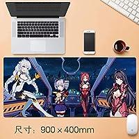 日本のアニメマウスパッドテーブルマットHonkaiインパクト第三防水グラフィティマウスは特大ノンスリッププロフェッショナルラバークリエイティブがデスクノートPC 90 * 40センチメートルについてゲーミングマウスパッドをパーソナライズマット (サイズ: 3mm)