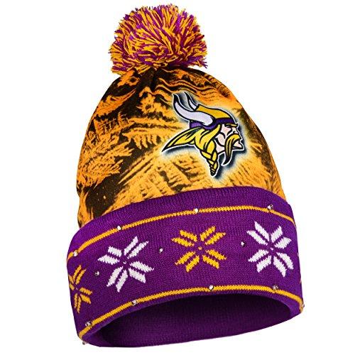 Minnesota Vikings Big Logo Light Up Printed Beanie