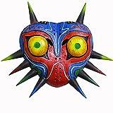 Máscara de Halloween de Majora, máscara de látex de la Leyenda de Zelda, Cosplay de Halloween, Accesorio de Disfraz de Cosplay para Adultos (B: Luminous)