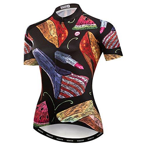 Radfahren Jersey Frauen Mountainbike Jersey Shirts Weibliche Rennrad Kleidung Pro Team MTB Tops Sommer Kleidung USA Schwarz Größe M