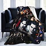 The Vampire Diaries Blankets Throws Plush Fuzzy Flannel for Girls Teens Women Bedroom Sofa Home Office Couch Travel Car Cozy Nap