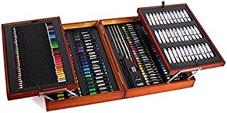 Mont Marte 174-Piece Deluxe Art Set, Art Supplies for Painting and Drawing, Art Kit in Wood Box Includes Acrylic, Oil, Wat...