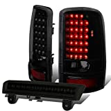 Compatible with 00-06 GMC Yukon (XL)/Chevy Tahoe Suburban Full LED Tail Light+3Rd Third Brake Lamp Smoked