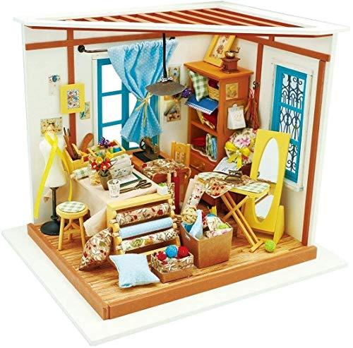 LHOME Stellen Sie Sich vor 3D DIY Haus Model Kit / Gewächshaus mit LED-Licht-Kit / Miniatur-Puppen Build It Yourself-Kit for Bastler und Enthusiasten aus Holz Geschenke for Erwachsene Kinder Teens