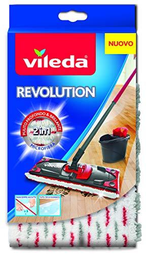 Vileda Revolution Microfibra 2 in 1, Panno Ricambio, Bianco