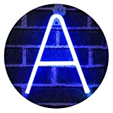 Light Up Letters Neon Signs, blue Marquee Letter Lights Wall Decor for Christmas, Birthday Party, Bar Valentine's Day Words-blue Letter A