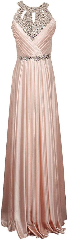 Avril Dress Rhinestone Beading Floor Length Belt Charmeuse Evening Prom Dress