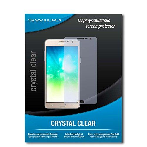 SWIDO Schutzfolie für Samsung Galaxy On5 Pro [2 Stück] Kristall-Klar, Hoher Festigkeitgrad, Schutz vor Öl, Staub & Kratzer/Glasfolie, Bildschirmschutz, Bildschirmschutzfolie, Panzerglas-Folie