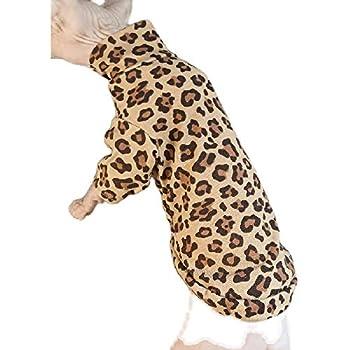 TENGTUD Vêtements de Chat sans Poils, Hiver épaissir Le léopard Sphynx/vêtements de Chat Devon