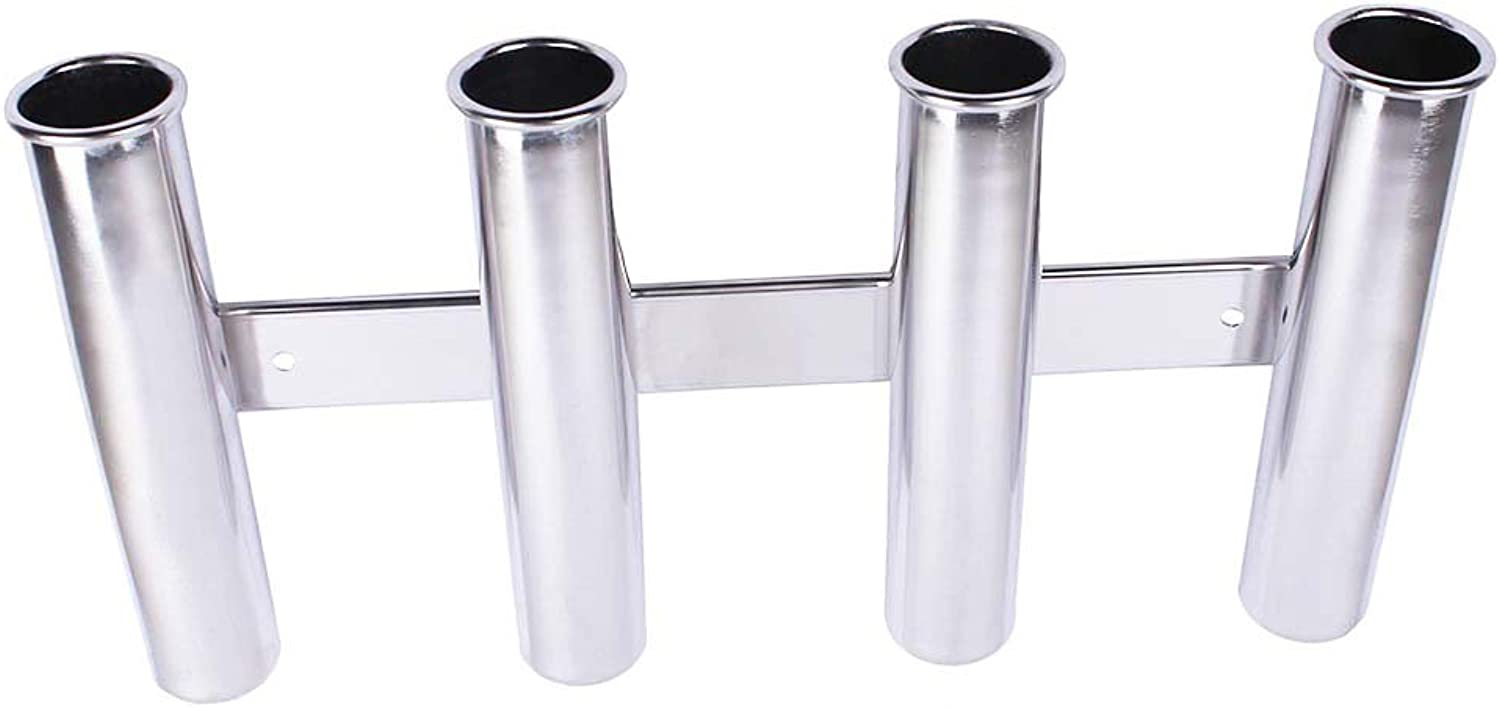 8  Fishing Rod Holder (Holds 4 Rods) 316 Stainless Steel, Rod Holder ID = 1 5 8  (41mm) Rod Holder L = 16  3 16  (411mm)GENUINE Suit Boats & Yacht