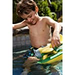 Kid Playing with Green Toys Yellow Seaplane