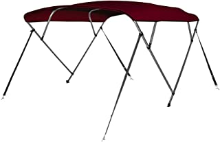Seamander 3-4 Bow Bimini Top Boat Cover 4 Straps for Front and Rear Includes with Mounting Hardware