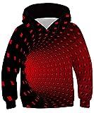 TUONROAD Hoodie Niño Funny 3D Túnel Visual Sudaderas con Capucha Unisex Sweatshirt Niña Manga Larga Sweater Hoody L